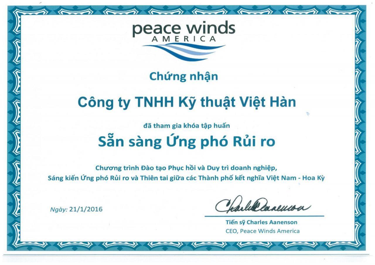 Chung nhan ung pho giam thieu rui ro