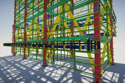 Kết cấu thép nhà xe tự động